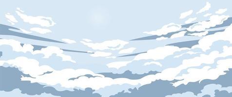 nubes en el cielo azul vector