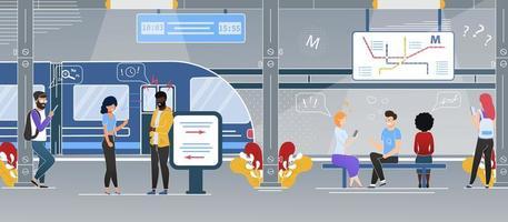Modern City Transit System Scene vector
