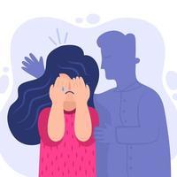 homem consoladora mulher chorando vetor
