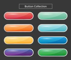 Colorful glossy button collection vector