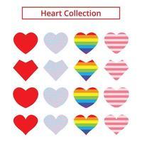 corações diferentes de forma e padrão