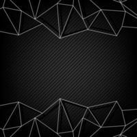 White polygon borders on dark striped pattern vector