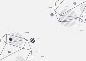 armações de arame de polígono geométrico vetor