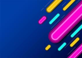 Multicolored stripes on blue gradient vector