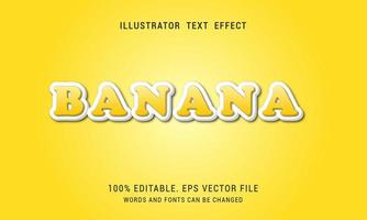 Banana Yellow Text Effect vector