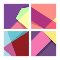 Colorful Geometric Shape Set vector