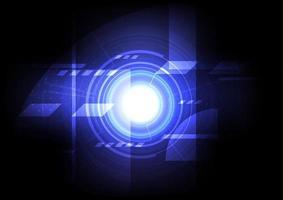 Engineering mechanical blue glowing design vector