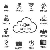 Smart goal setting ons vector