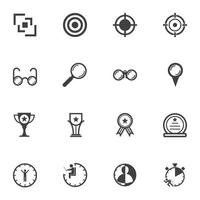 Business target and award icons vector