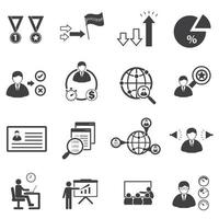 Business statistics and connection icons vector