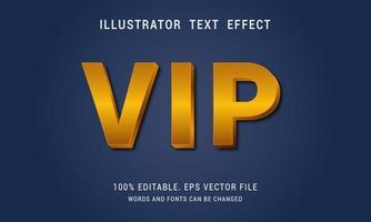 efecto de texto editable vip dorado vector