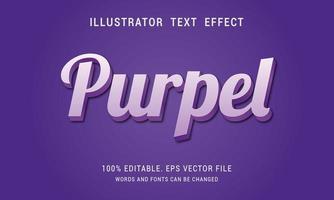 Purple Text Effect vector
