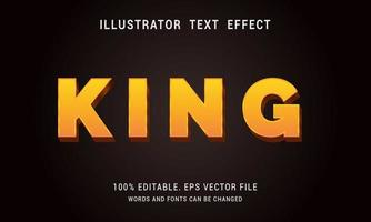 Gold King Text Effect vector