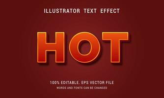 Hot Text Effect vector