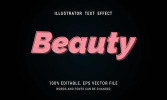 Pink Beauty Text Effect vector