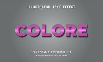 Purple Colore Text Effect vector