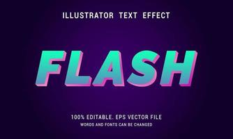 Neon Flash Text Effect vector