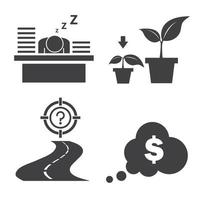 Business Success and Growth Icons vector