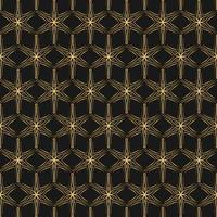 Geometric Flower Gold Background vector