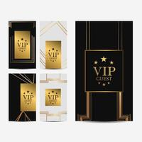 Set of VIP cards  vector