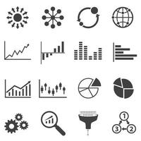 Big Data Icon Set vector
