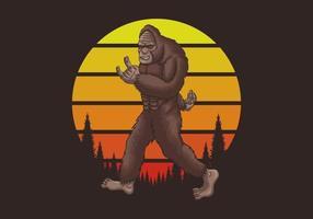 Bigfoot rocker retro  vector