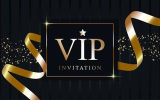 Luxury VIP background with ribbon vector