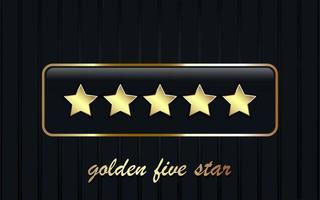 fundo de cinco estrelas de luxo vetor