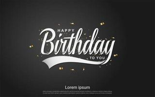 Happy birthday celebration luxury background vector