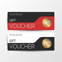 Gift voucher cards with red black color