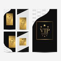 VIP Card Set vector