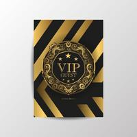 VIP guest premium luxury card vector