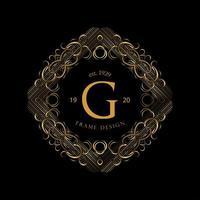 Gold Frame Luxury  vector
