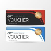 Gift voucher cards template vector