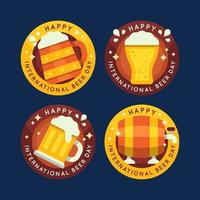International beer day labels collection vector