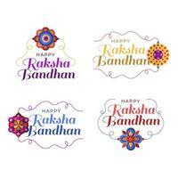 Happy Raksha Bandhan badge collection