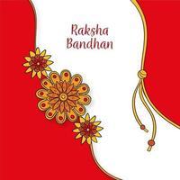 letras de raksha bandhan e decorações florais vetor