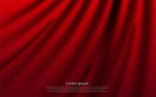 Luxury red curtain texture vector