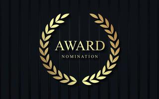 Award nomination luxury design vector