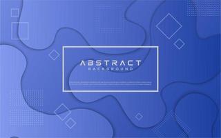 Blue gradient fluid shape design vector