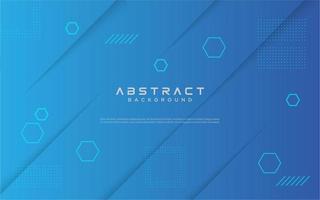 Blue gradient geometric shape design vector