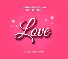 Liebe modernen weißen und rosa bearbeitbaren Text vektor