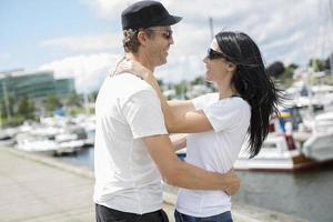 love couple, travel, tourism and people concept photo