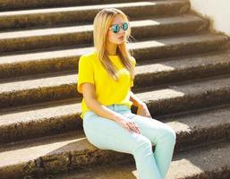 Summer, fashion and people concept - stylish pretty woman