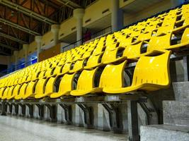 seat rows installed on indoor sport stedium