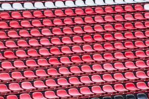Stadium seats.