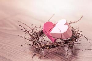corazones anidan foto
