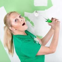 Happy painter photo