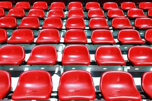 red sport stadium seats