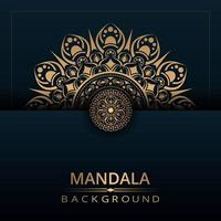 Fondo de diseño de media mandala